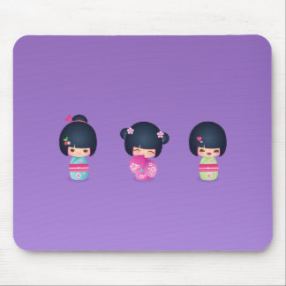 kokeshi Three Mousepad
