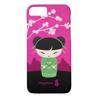 Kokeshi verde - felicidad funda iPhone 7