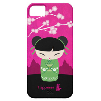 Kokeshi verde - felicidad iPhone 5 funda