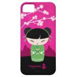 Kokeshi verde - felicidad iPhone 5 fundas