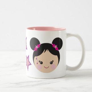 Kokeshi with Buns Mug