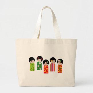 KokeshiKids1 Jumbo Tote Bag