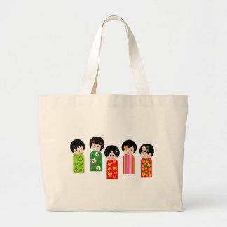 KokeshiKids1 Large Tote Bag