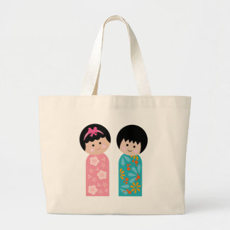 KokeshiKids2 Large Tote Bag