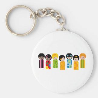 KokeshiKids3 Keychain