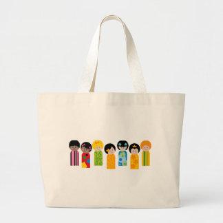 KokeshiKids3 Large Tote Bag