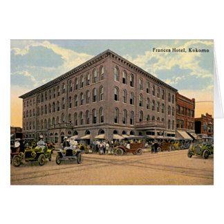 Kokomo, Indiana Frances Hotel 1910 Card