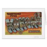 Kokomo, Indiana - Large Letter Scenes Cards
