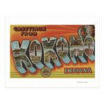 Kokomo, Indiana - Large Letter Scenes Postcard