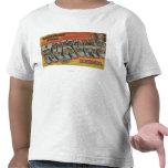 Kokomo, Indiana - Large Letter Scenes T Shirt
