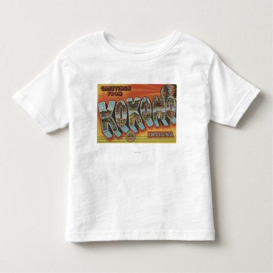 Kokomo, Indiana - Large Letter Scenes Toddler T-shirt
