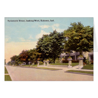 Kokomo Indiana Sycamore Street Card