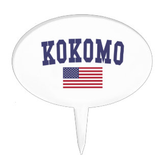 Kokomo US Flag Cake Topper