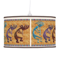 Kokopelli 3D Anasazi Native American Motif Ceiling Lamp