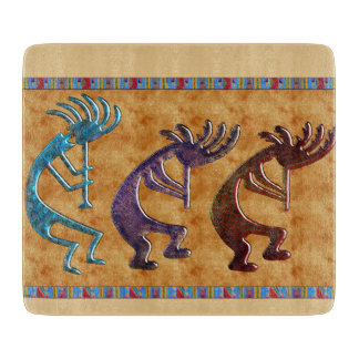 Kokopelli 3D Anasazi Native American Motif Cutting Board