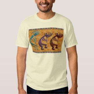 Kokopelli 3D Anasazi Native American Motif Shirts