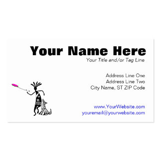 Kokopelli and Dog Double-Sided Standard Business Cards (Pack Of 100)