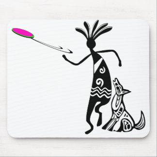 Kokopelli and Dog Mouse Pad