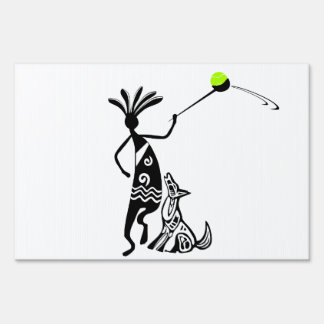 Kokopelli and Dog Sign