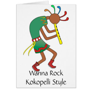 Kokopelli Approved Rocker!- Romance Greeting Card
