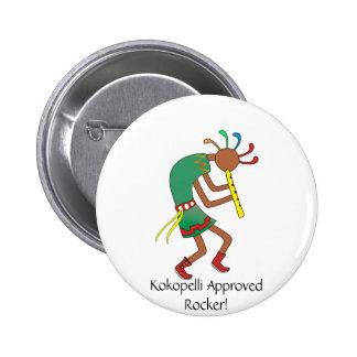 ¡Kokopelli aprobó el eje de balancín! Botón Pin Redondo De 2 Pulgadas
