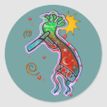Kokopelli Art Classic Round Sticker