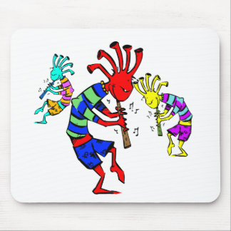 Kokopelli Art Music Trio Mouse Pad