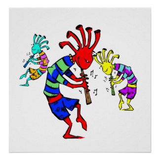 Kokopelli Art Music Trio Poster