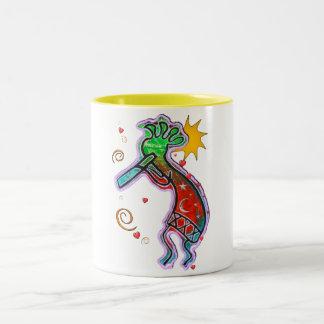 Kokopelli Art Two-Tone Coffee Mug