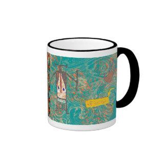 Kokopelli - arte de la roca taza de café