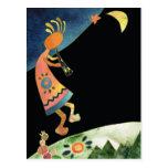 Kokopelli artístico tarjetas postales
