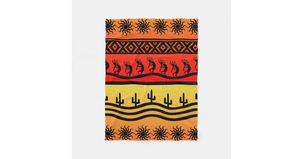 5d9e601e1 Kokopelli Aztec Tribal Desert Southwestern Design Fleece Blanket |  Zazzle.com