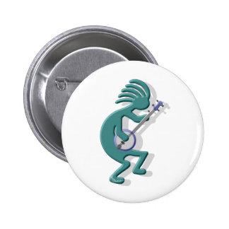 Kokopelli Banjo 2 Inch Round Button