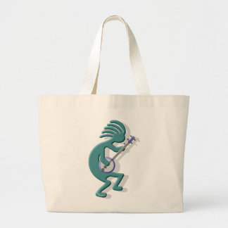 Kokopelli Banjo Large Tote Bag