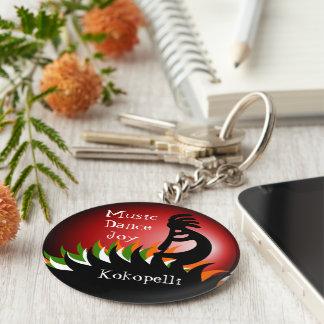 Kokopelli Basic Round Button Keychain