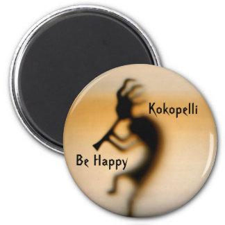 Kokopelli Be Happy Inspirational Magnet