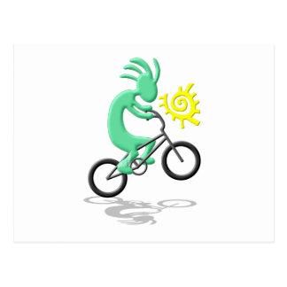 Kokopelli Bicycle Postcard