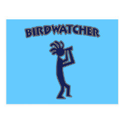 Postcard with Kokopelli Birdwatcher design