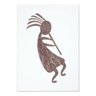 Kokopelli Brown Colored Card