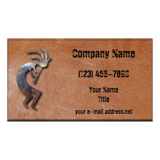Native american business card templates page2 bizcardstudio kokopelli business cards colourmoves Choice Image