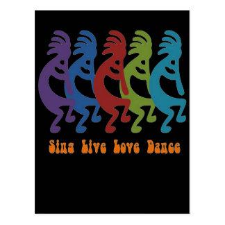 Kokopelli - cante la danza viva del amor tarjetas postales