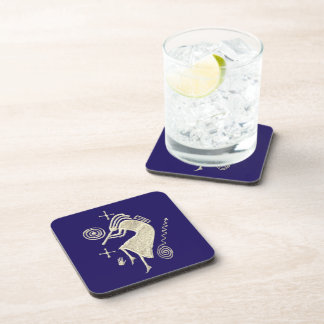 Kokopelli Carving Square Cork Coaster