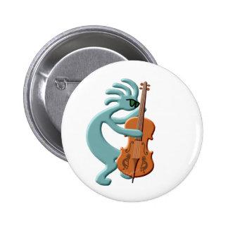 Kokopelli Cello 2 Inch Round Button