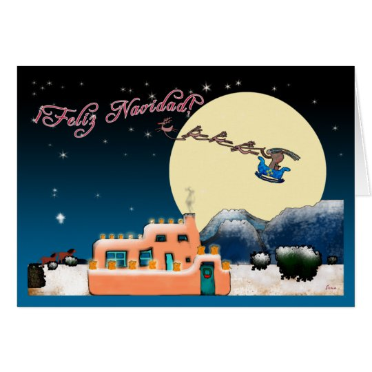 Kokopelli Christmas Card