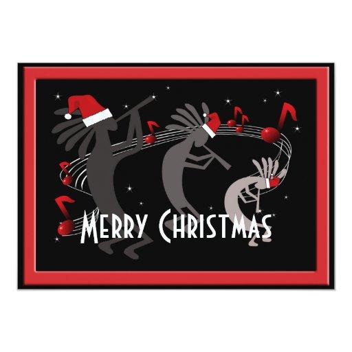 Kokopelli Christmas Flat Greeting Card