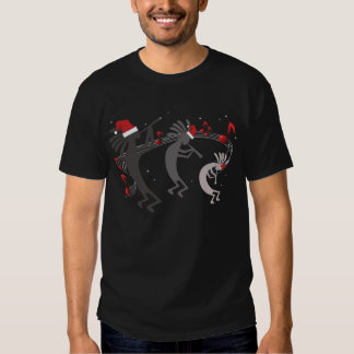 Kokopelli Christmas Mens Black T-shirt