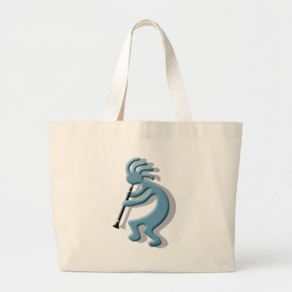 Kokopelli Clarinet Large Tote Bag