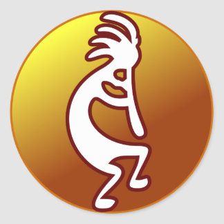 Kokopelli Classic Round Sticker