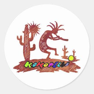 kokopelli classic round sticker