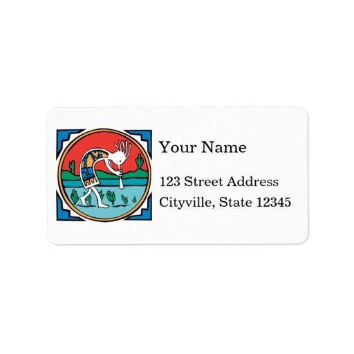 Kokopelli Color Custom Address Label
